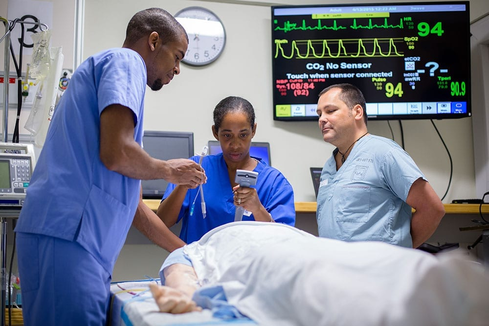 St. George's University holds an advanced airway management course in its newly renovated Simulation Center.